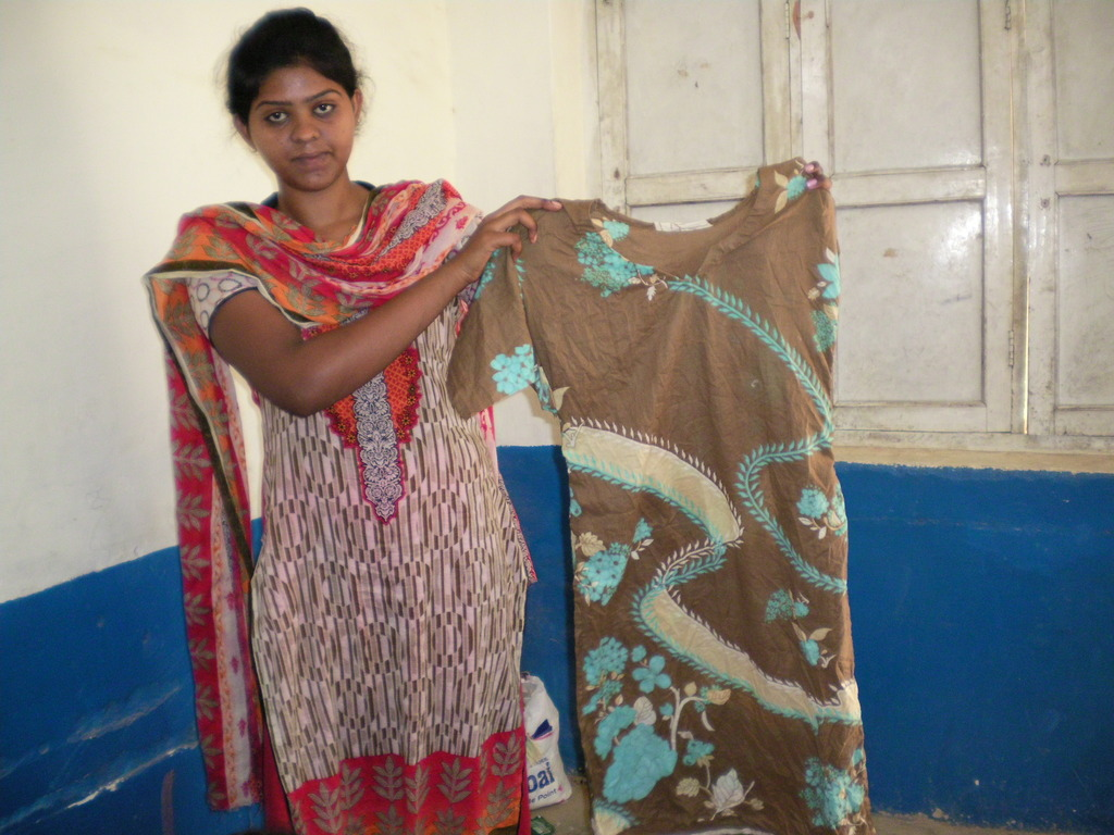 A Young women Learnt sewing skills