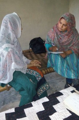 Bushra earning income for her family