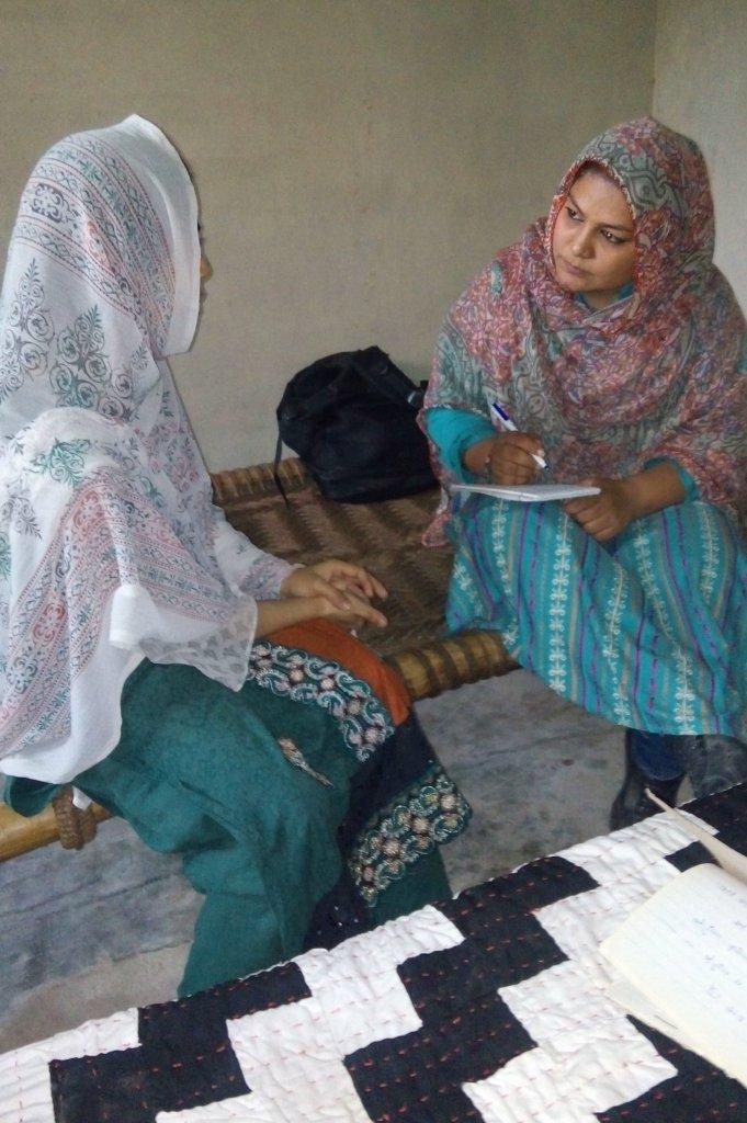 Bushra earning income for her family