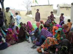 women in village Chotho Kolhi