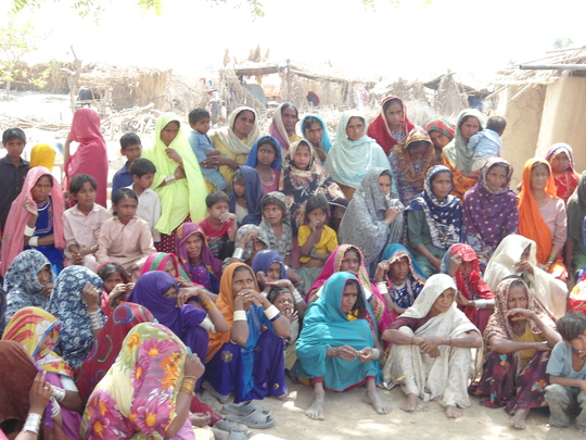 women training in village