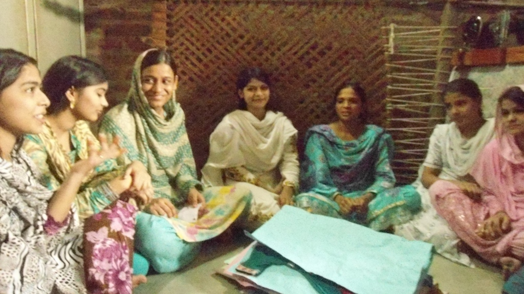 Young girls learned sewing at AHD sewing center