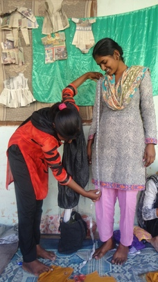 A Sewing shop opened by young women at her house