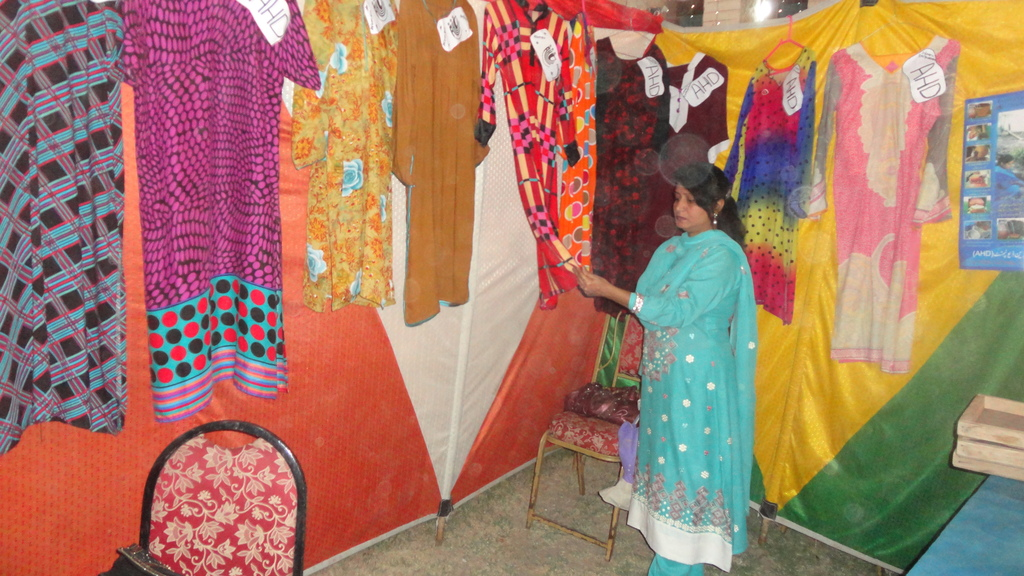 New dresses prepared by young women