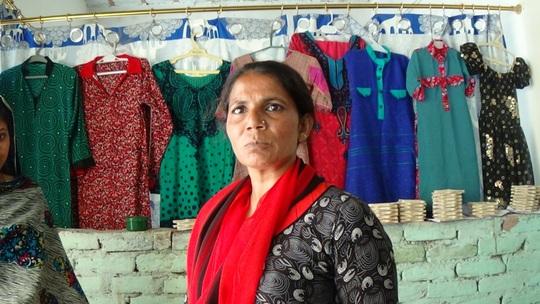 Mrs. Haniffa a teacher sewing center