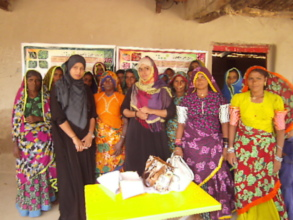 Women group attended skill training