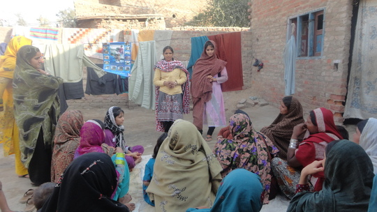 Youg leaders during awareness promtion in women