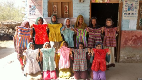 Young Women skilled in sewing