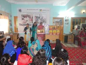 Skilled girls given sewing machines as gift