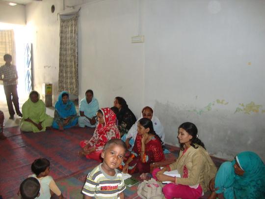 women group meeting for selection for preparing li