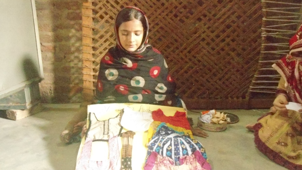 women trained in cutting and sewing within 3 month