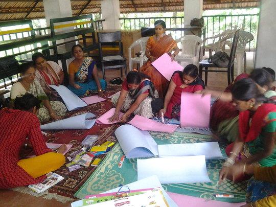 Teachers preparing their own teaching aids