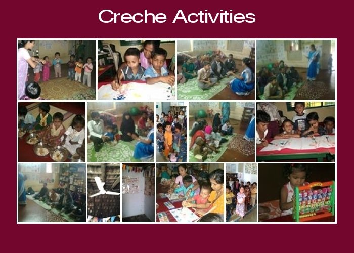 Activities at the Creches