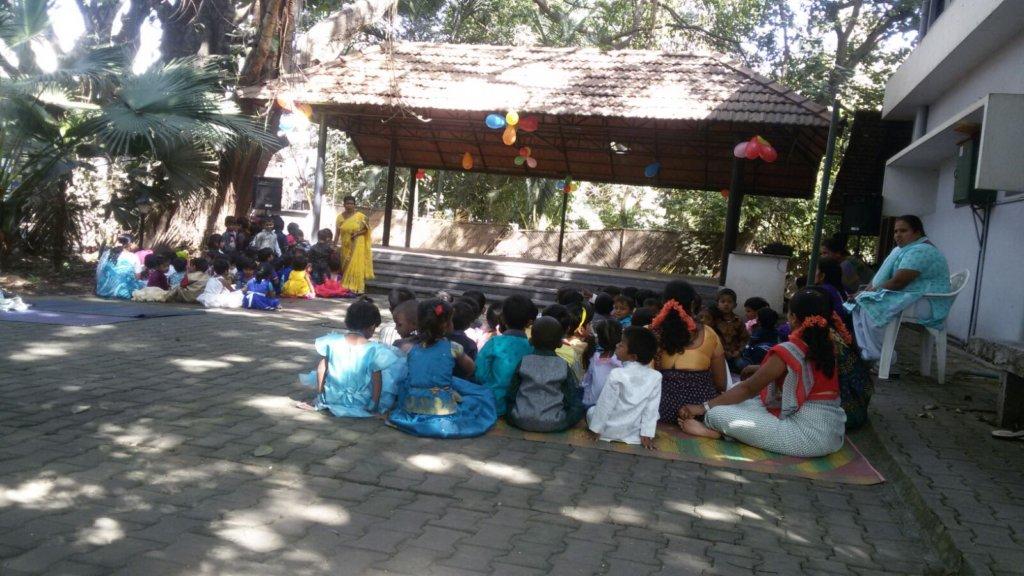 Creche Children and staff