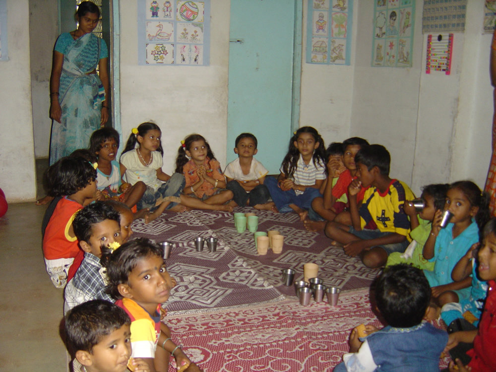 Tea time for the children