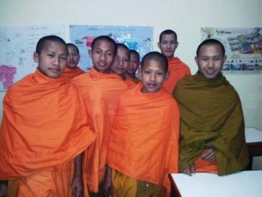 Novice monks sponsored by the GVI CT