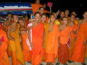 Novice Monks in Luang Prabang