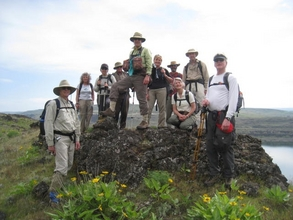 Hikers on Dalles Mountain Ranch