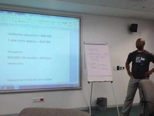 Edwin explains the financial reinvestment model