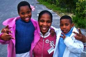 Zimkhita and kids at the Children's Home