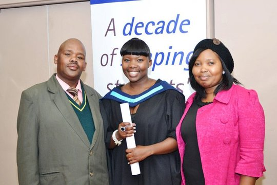 Zinthathu & Family at College Graduation