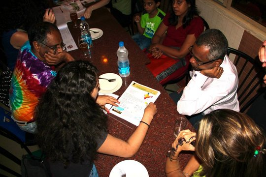 Dr. Koshy/AfhVP staff, Ms. Honein/students working
