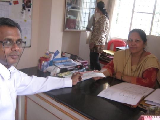 AfhVP gives check to Asha Kiran Special Needs Schl