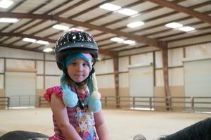 """A """"Frozen"""" Hat Helps When Your Helmet's Too Big"""