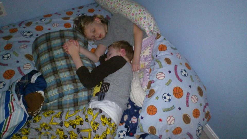 Kyle and his sister Kaylie
