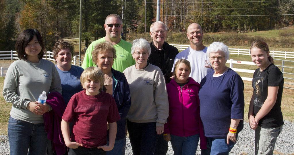 Our Team at McKenna Farms in November, 2011
