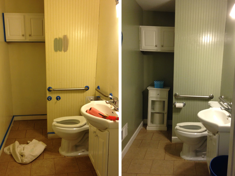 Bathroom Before and After Sonya