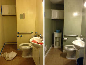 Bathroom Before and After Sonya's Paint