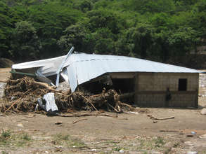 A House Destroyed by Tropical Storm Agatha