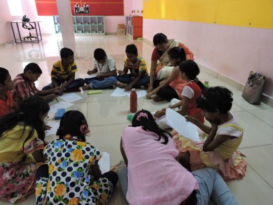 Schoolchildren testing activities