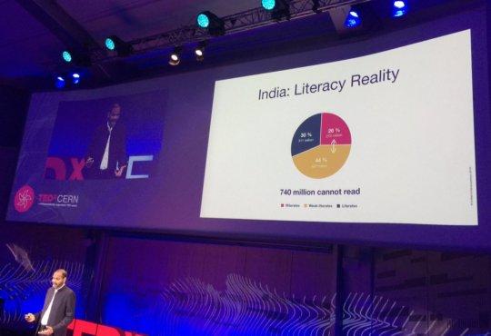 Brij Kothari in action at TEDxCERN