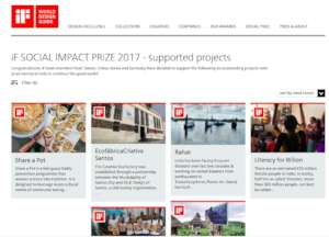 Winners of the 2017 iF Social Impact Prize