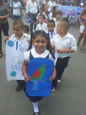 Our kids in the Esteli parade