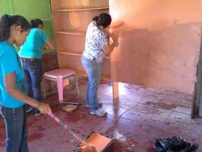 Painting the classrooms