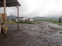 The community of Chiriza during the storms