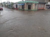 Flooded streets in Esteli