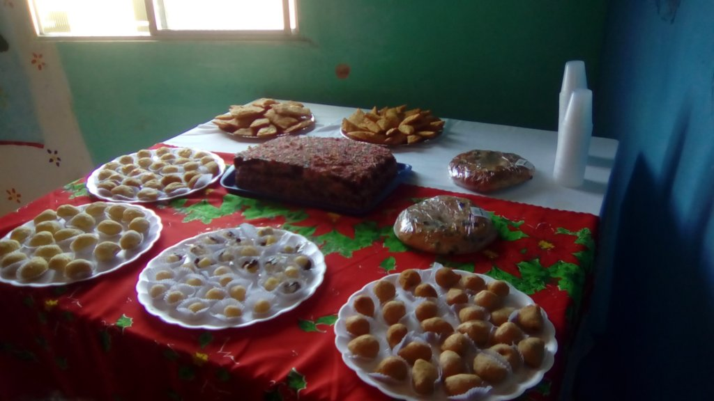 Party food prepared by Sonia!