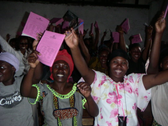 Young women and girls in alphabetizationclass Goma