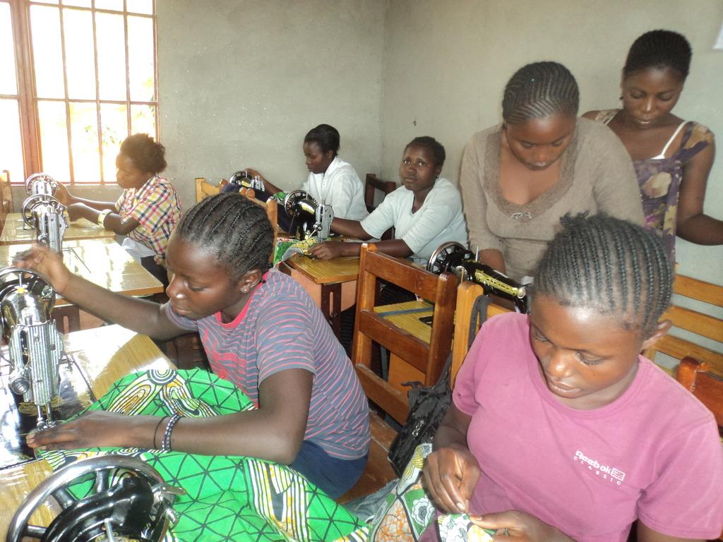 Girls in vocational training at Children