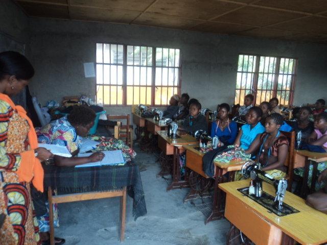 Girls in vocation training at CV Virunga center