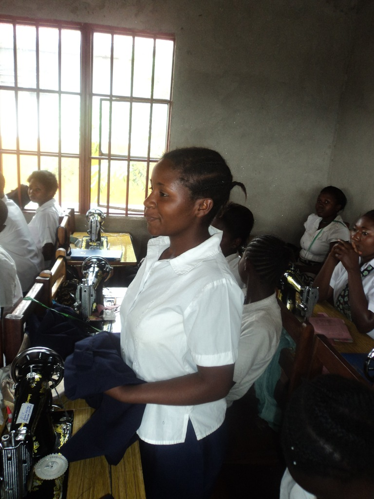 Girls in training room
