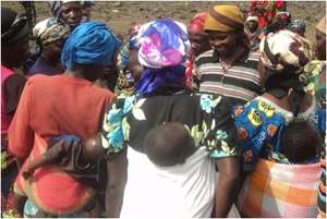 Women in focus group discussion by CV in Masisi