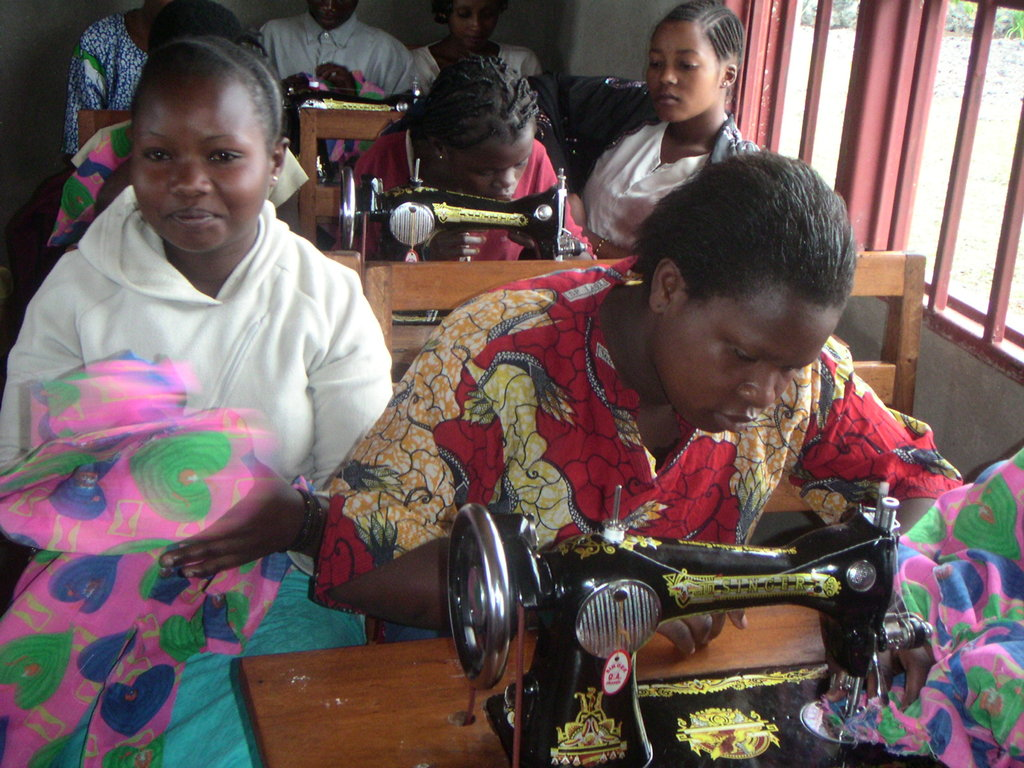 Vocational training at Virunga Center, Goma