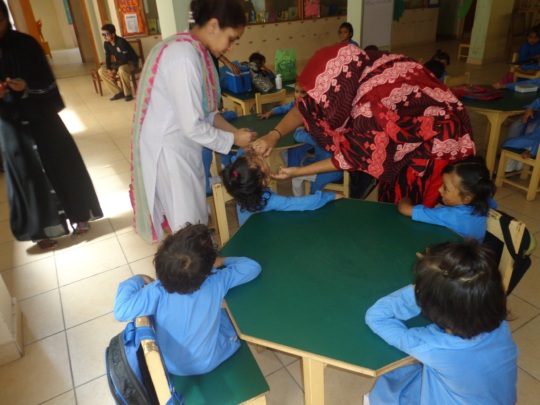 Polio vaccination in the Breakfast Room