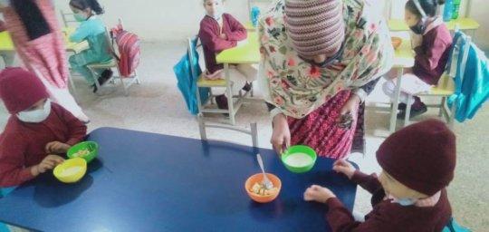 Meals given at SMB Fatimah Jinnah Gov Girls School