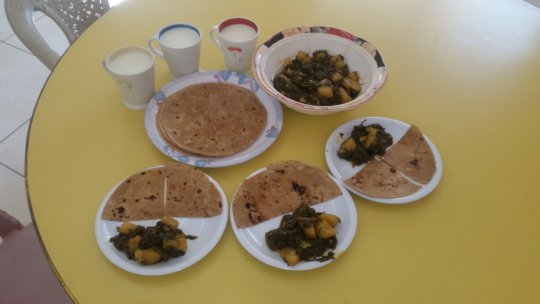 Warming, delicious and nutritious methi paratha
